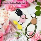 Necklace Hang Tag Card Fodable Earrings Bracelet Display Package Hang Cards