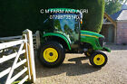 JOHN DEERE 4520 COMPACT CAB TRACTOR 53hp 4WD HYDR 2 SPEED PTO AC HEATER RADIO