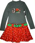 Girls Pink  Violet JOY NEW Christmas Holiday Dress Grey Red Green White