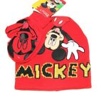 Toddler Boys' Mickey Knit Hat and Mittens Set Red 2T-4T