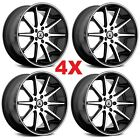 22 BLACK WHEELS RIMS 5X1143 5X45 ASANTI LIP