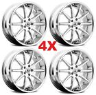 22 CHROME WHEELS RIMS 5X1143 5X45 ASANTI LEXANI GIOVANNA