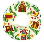 Hand-Made Crewel Embroidery Cross Stitch Christmas Holiday Wreath