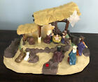 VINTAGE TALKING MANGER NATIVITY SCENE GEMMY LIGHTED MUSICAL TELLS STORY JESUS