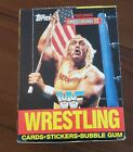 1987 WWF Trading Cards Complete Box - Hulk Hogan and more!