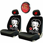 For Kia Betty Boop Car Truck Suv Seat Headrest Steering Wheel Covers New