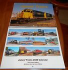 2020 James' Trains Calendar includes UP, CN, CP, IC, NS, Metra, AMTK, BNSF, more