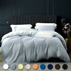 Silky Satin 1800 Count Duvet Cover Set 3 Pieces Ultra Soft Comforter Cover Set