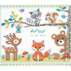 Pack 3 Forest Animals Birth Record On Aida Counted Cross Stitch Kit 112X96