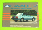 1990 Chevrolet Cavalier Owners Manual Owner's Guide Book Sedan Wagon Coupe