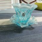 TWO BEAUTIFUL LIGHT BLUE FENTON PIECES