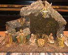 Vintage Nativity Wooden Creche Manger Scene Made In Italy