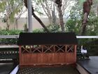 SCRATCH BUILT WOODEN ON30 GAUGE O SCALE COVERED BRIDGE NARROW GAUGE LAYOUT 58