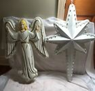 Vintage Empire 39 Nativity Star blow mold Christmas Display and 32 Angel