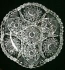 Vintage ABP Cut Glass Crystal Candy Or Serving Dish Fruit Nut Bowl 6