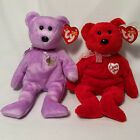 2 in Lot Ty Beanie Babies Plush Bears Retired