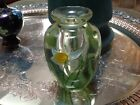 LUNDBERG STUDIOS daffodil perfume bottle 4 1 2 inch signed 1983 no stopper