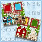 CHRISTMAS VILLAGE Printed Premade Scrapbook Pages