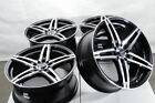 17x75 Black Wheels Fits Toyota Camry Celica Matrix Optima Mr2 Civic Accord Rims