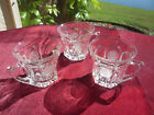 FOSTORIA COIN CLEAR GLASS PUNCH CUPS LOT OF 3 FOR YOUR SPECIAL OCCASIONS