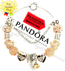 Authentic Pandora Charm Bracelet Silver Gold with Love Heart European Charms New