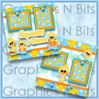 SQUEAKY CLEAN Printed Premade Scrapbook Pages