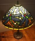 Dragonfly Tiffany Style Stained Glass 1 Lt Table Lamp