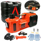 5Ton Car Electric Hydraulic Floor Jack Lift 12V Air Compressor Pump 135 360mm US