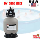 16 Swimming Pool Sand Filter System 6 Way Valve Inground and Above Ground Pools