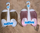 Two Pairs Of Girls Bling Native Slip On Shoes NIB Pink And Gold size 6 Toddler