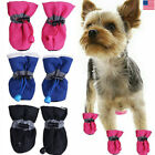 4x Winter Small Dog Anti Slip Rain Boots Puppy Shoes Pet Protective Sock Booties
