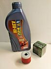 HYOSUNG GT 125 NAKED ENGINE OIL AND FILTER SERVICE KIT MF131 FILTER 10W40 OIL