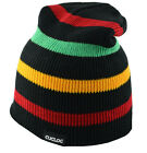 Cuglog Monte Fitz Roy Striped Beanie Knit Hat  Rasta