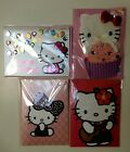 4 Hello Kitty Papyrus Greeting Cards High Quality 2 Birthday 2 blank Sandrio