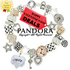 Authentic PANDORA Bracelet Silver Gold with LOVE HEART Stars European Charms New
