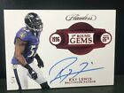 2018 Flawless Football 1st Round Gems Ray Lewis On Card Auto #'d 4 5 Ravens
