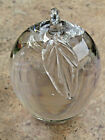 Vintage Hand Blown Heavy Clear Glass Apple Paperweight By Celso Lopez Mint