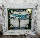 Stained Glass On Glass Dragonfly Stained Glass Handmade Dragonfly