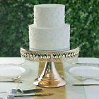 GOLD METAL 8 tall Cake Stand Riser with Mirror Top Party Wedding Reception SALE