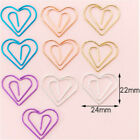 10pcs Cactus Bowknot Paper Clips Colorful Star Heart Shape Binder Clips Cute