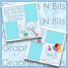 ARE YOU YETTI TO PARTY Printed Premade Scrapbook Pages