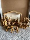 FONTANINI Nativity Depose Italy Set of 16 Figures  Animals w Creche Stable