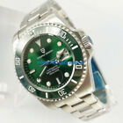 43mm PAGANI DESIGN Green Sapphire Glass NH35A Automatic Steel Mens Date Watch