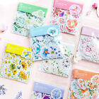 Diary Decor Flower Stickers Scrapbooking Cartoon Stationery Supply Paper 1 Set