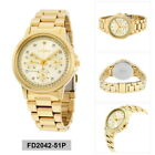 Citizen forretning Damen Gold Analog Eco-Drive Silhouette Crystal FD2042-51P