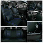 Luxury Pu Leather Car Seat Covers Cushion Universal 5-sits Front Rear Interior