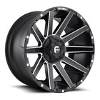 4 20x9 Fuel Matte Black  Milled Contra Wheel 6X135 6X1397 For Ford Jeep