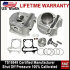 61mm 180cc Cylinder Head  Block Kit for GY6 125 150cc Scooter Engine Mopeds NEW