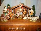 Vtg Large Nativity Full Set Paper Mache Figure Stamped Japan Hand Painted