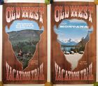 OLD WEST VACATION TRAIL VINTAGE TRAVEL POSTERS 1969 MONTANA NORTH DAKOTA